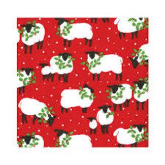 Caspari Caspari Tissue Paper- Festive Flock Red