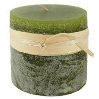 "Vance Kitira 3.75x4.5"" Pillar Candle- Holiday GREEN"
