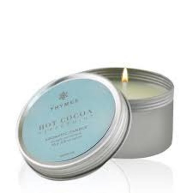Thymes Thymes Hot Cocoa Peppermint Candle- Travel Tin
