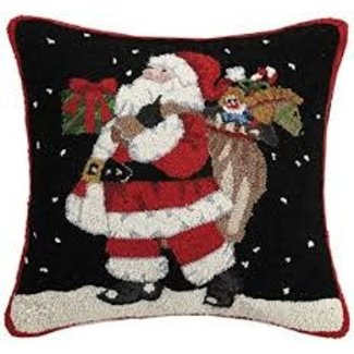 Peking Handicraft Peking Handicraft Pillow - Believe Santa 18x18