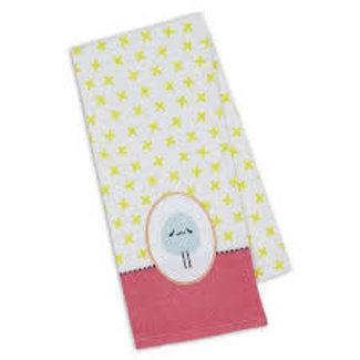 DII Easter Fun Ewe Embellished Dish Towel