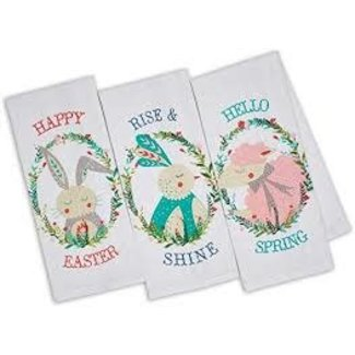 DII Dish Towel- Easter Bunny or Sheep in Wreath