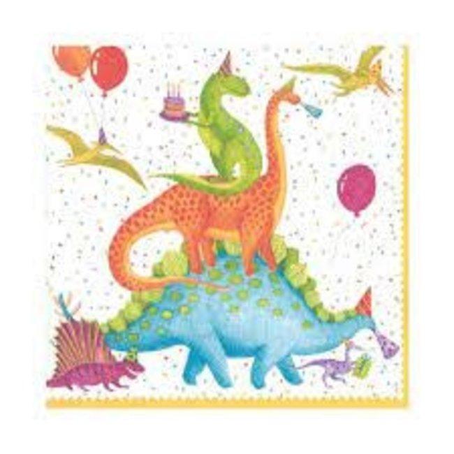 Caspari Caspari Luncheon Napkins - Partysaurus