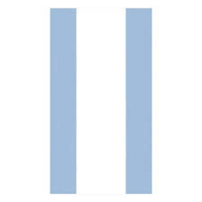Caspari Caspari Guest Towel - Bandol Stripe Light Blue
