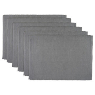 DII Ribbed Placemat - Dove Grey