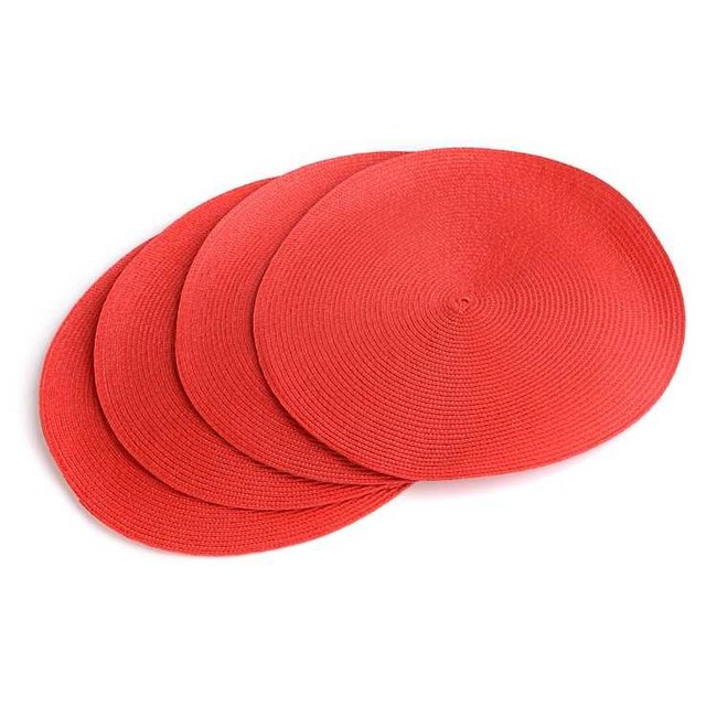 Tango / Candy Apple Round Braided Placemat