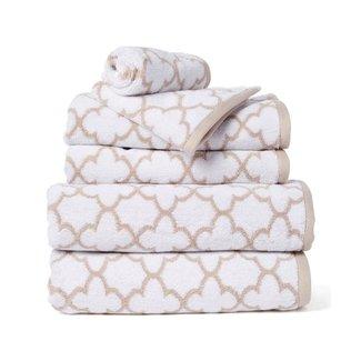 Irongate Jacquard Bath Towel - Sand/White