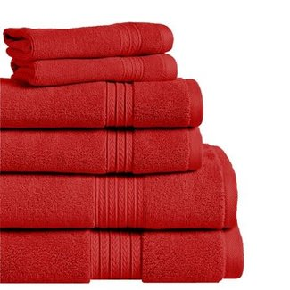 Summit Hand Towel - Red