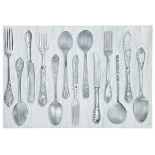Harman Harman Rustic Cutlery Placemat - Grey