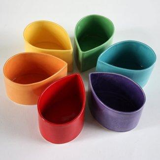 Ceramic Teardrop Bowl- Multi color