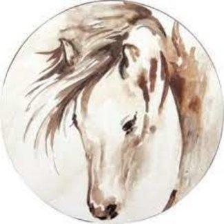 "RockFlowerPaper RockFlowerPaper 15"" Round Tray - Horse"