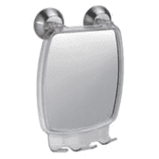 InterDesign Forma Suction Mirror/Razor Hldr - Brushed SS