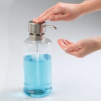 InterDesign Hamilton Soap Pump 34 oz - Clear and Brushed Plastic