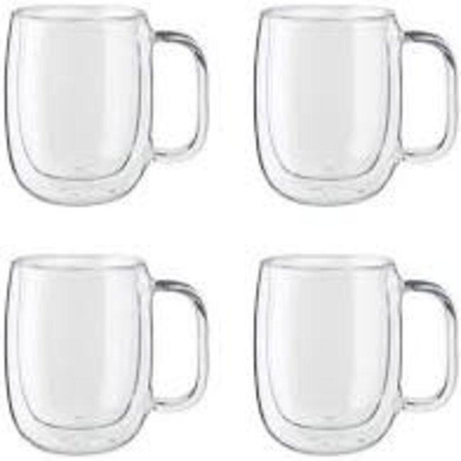 Zwilling Double Wall Coffee Glass Mugs Buy 2 Get 4