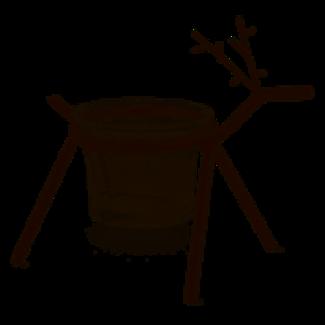 Tag Votive Holder- Woodland Reindeer Small