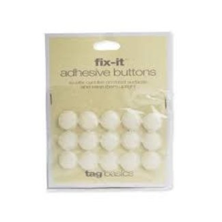 Tag FIX-IT Adhesive BUTTONS (Set of 15) - White