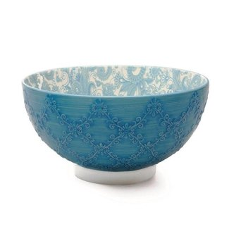 """BIA Trellis 8"""" Bowl - Turquoise"""