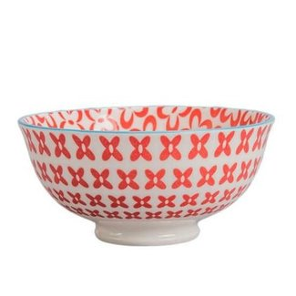 """BIA  Peony Bowl Red 4.75"""""""