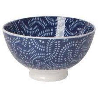 Now Designs Now Designs Bowl Stamped 4inch -  Indigo Geo