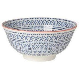 Now Designs Now Designs Bowl Stamped 6inch Blue Cross