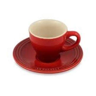 Le Creuset Le Creuset 2 oz. Espresso Cup and Saucer Cerise