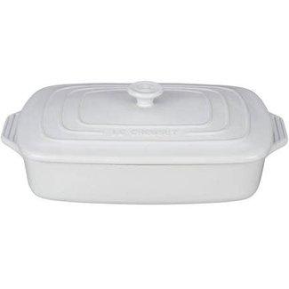 Le Creuset 3.5QT Rectangular Covered Baker w/Lid- White