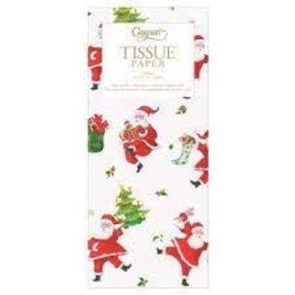 Caspari Caspari Dancing Santas Tissue Paper- 4 Sheets