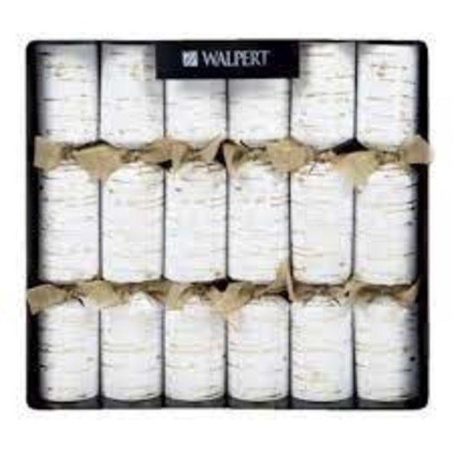 Walpert Walpert Christmas Crackers  - Birch,Gold And White