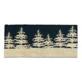 Tag Doormat Estate Boot-scrape-  Winter Trees Midnight Blue