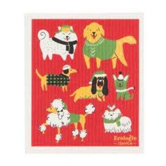 Now Designs Now Design Swedish Dishcloth- Yule Dogs