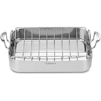 """cuisinart Cuisinart MultiClad Pro Stainless 16"""" Roasting Pan and Rack"""