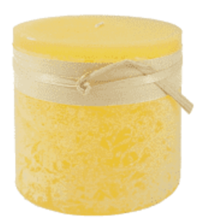 Vance Kitira Timber Candle 4x4 Pale Yellow