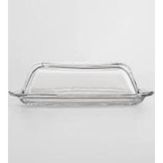 HIC HIC Glass Covered Butter Dish