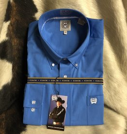 CINCH CINCH MN SHIRT L/S BLUE SQUARE BUTTON