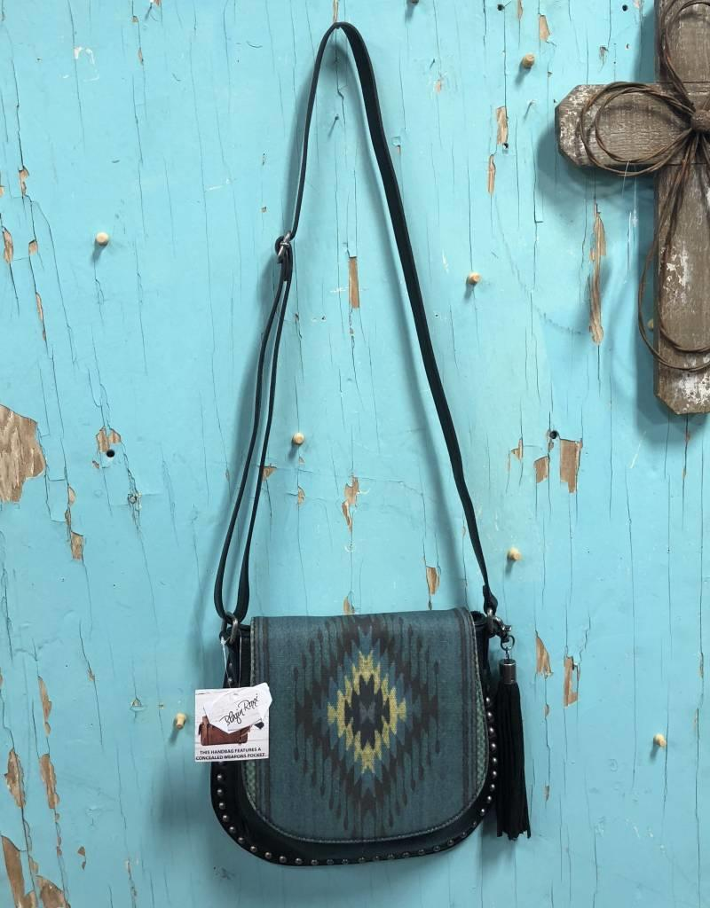 BLAZIN ROXX PURSE BLUE SERAPE CROSS BODY CONCEALED CARRY