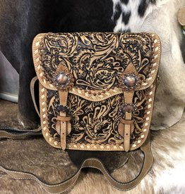 BLAZIN ROXX PURSE SADDLE BAG CONCEALED CARRY PURSE CC1 BROWN SHILOH