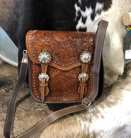 BLAZIN ROXX PURSE SADDLEBAG CONCEALED CARRY LEATHER TOOLED  CC SHILOH