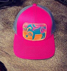 HAT PINK/CHARCOAL W/ PINK BUFFALO CAP
