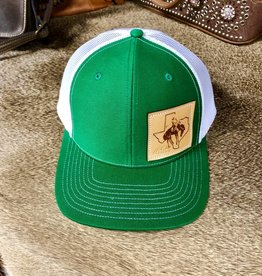 HAT KELLY GREEN/WHITE W/ SQUARE BUCKROO