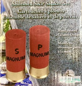 SHAKER SET SHOTSHELL SALT AND PEPPER