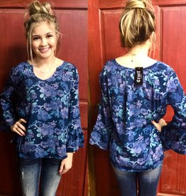 CRUEL WMS CRUEL PHEASANT TOP NAVY PURPLE