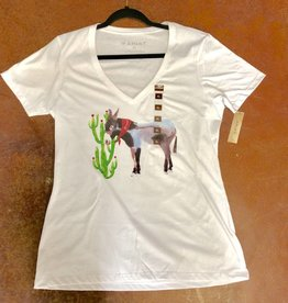 ARIAT WMS MULE TEE WHITE