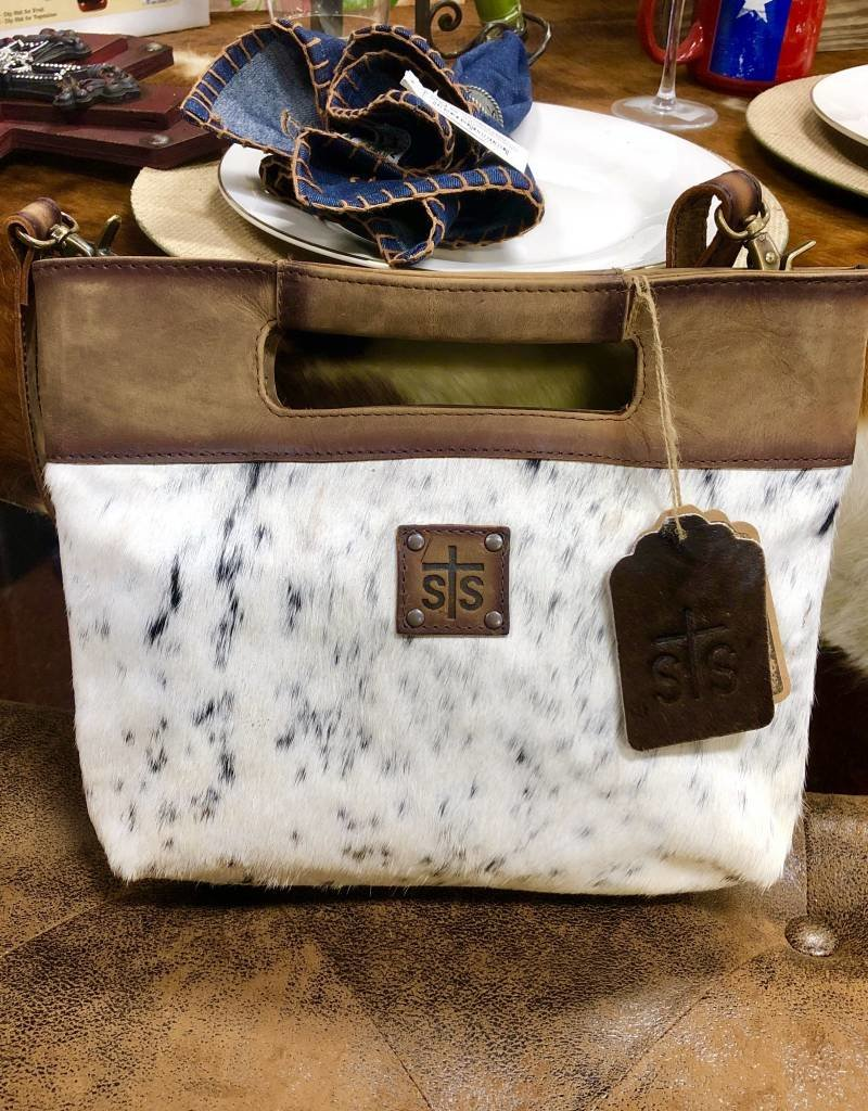 PURSE STS COWHIDE FLAT ROCK CLUTCH HAIR CONCEALED CARRY