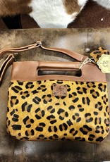 PURSE STS LEOPARD FLAT ROCK CLUTCH CONCEALED CARRY DETACHABLE STRAP