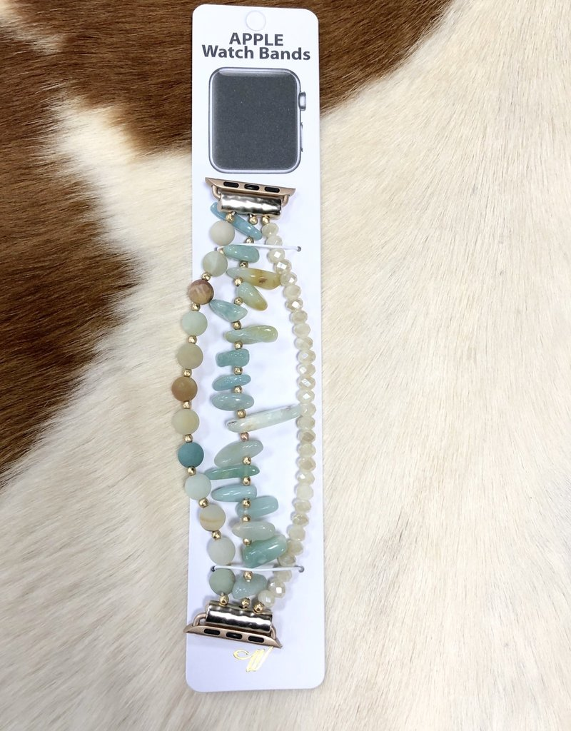 APPLE WATCH BAND GENUINE STONE STRETCH BAND