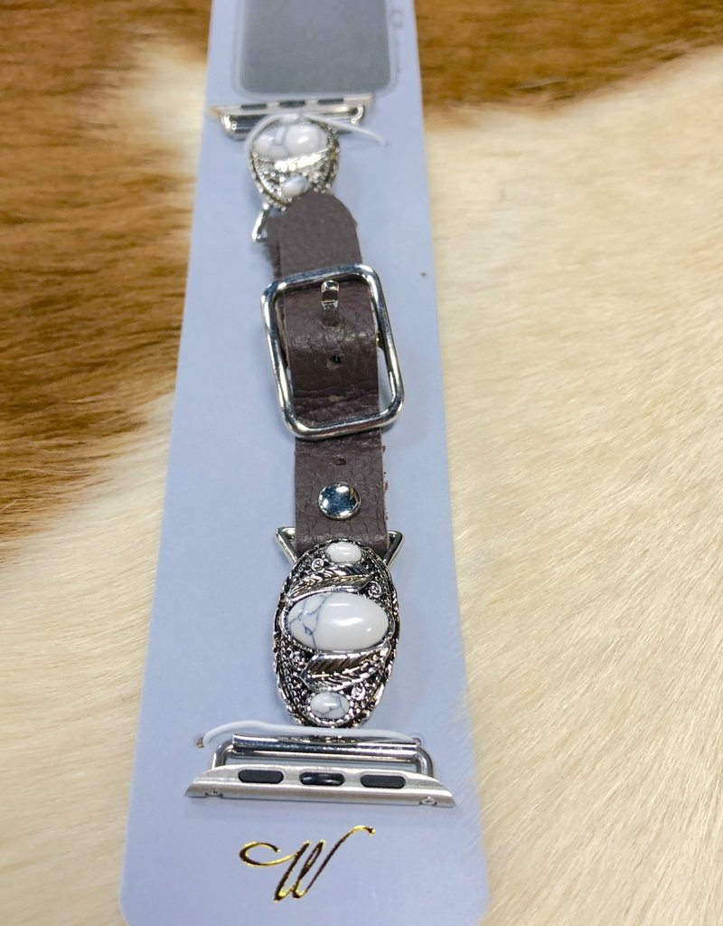 APPLE WATCH BAND LEATHER BUCKLE CONCHO BAND W SCREWDRIVER