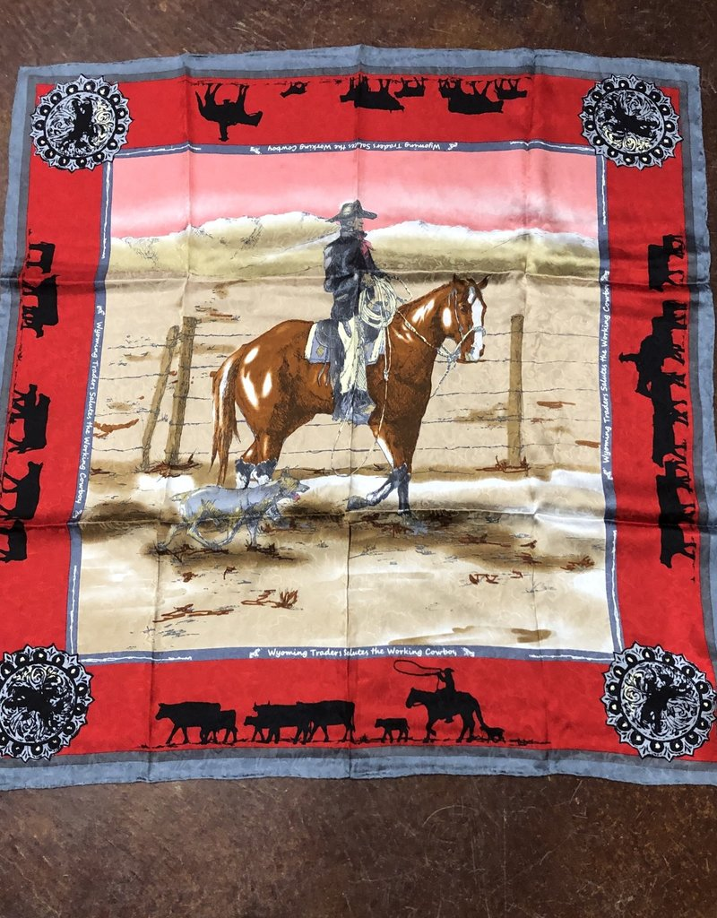 SCARF SILK LTD ANNIVERSARY 34.5 X 34.5 RED