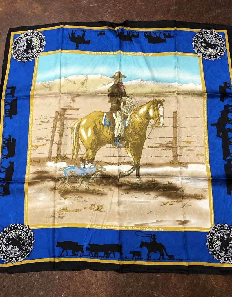 SCARF SILK LTD ANNIVERSARY 34.5 X 34.5 ROYAL WILD RAG
