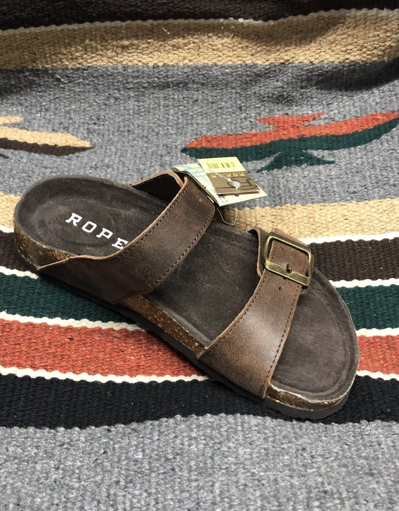 ROPER WMS ROPER SANDAL BROWN OILED VINTAGE LEATHER