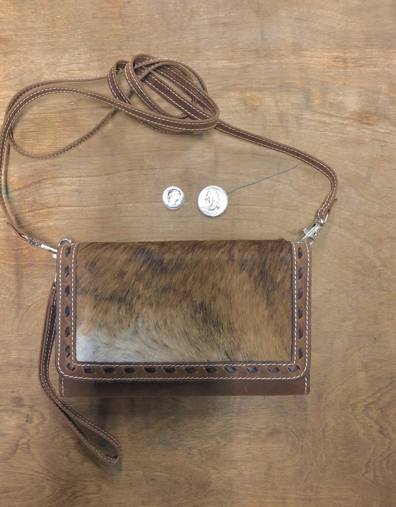 """WALLET PURSE HAIR ON COWHIDE LEATHER ANGEL RANCH PH1001 7"""" X 5"""""""